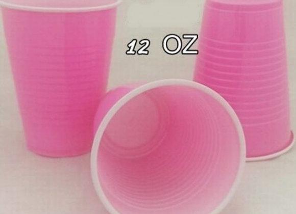 """כוס גדולה ורודה 360 מ""""ל"""