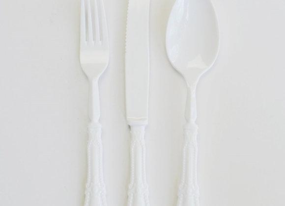 סכין יוקרתי  צבע לבן  קשיח מאוד וינטג