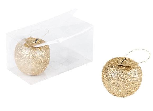 זוג תפוחים גדולים זהב לקישוט