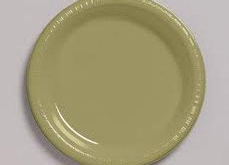 """צלחות פלסטיק  זהב גודל 23 ס""""מ"""