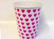 כוס דגם לבבות