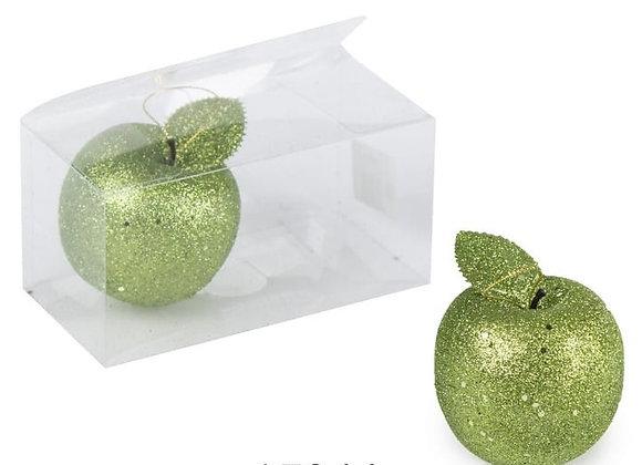 זוג תפוחים גדולים ירוק לקישוט