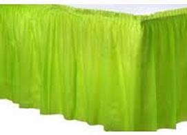 חצאית לשולחן ירוקה