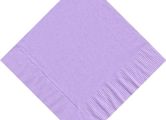 מפית דו שכבתית צבע סגול לילך 50 יחידות