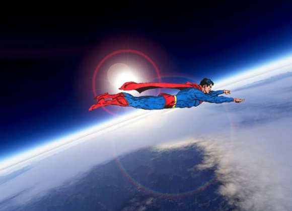 דף אכיל לעוגה סופרמן 7131
