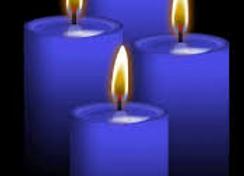 רביעיית נרות בצבע כחול