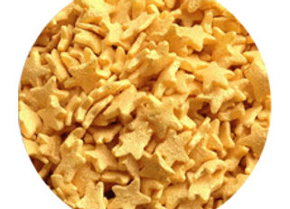 סוכריות קישוט לעוגה כוכבים זהב