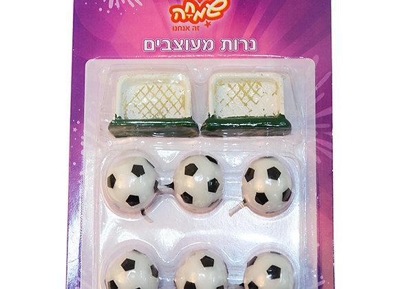נרות כדורגל עם שערים