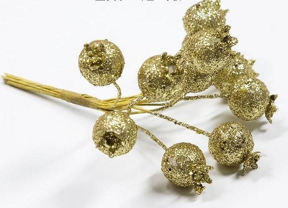 חבקי קישוט רימונים זהב