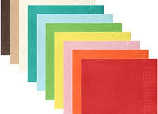 מפיות צבע אחיד 2 שכבות