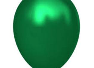 חבילת בלונים מטאליים ירוקים