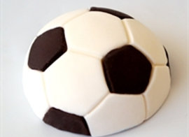 חצי כדורגל מבצק סוכר