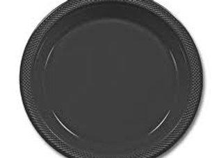 """צלחות פלסטיק  שחור גודל 23 ס""""מ"""