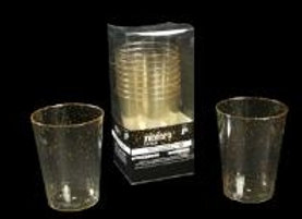 כוס קריסטל ניצוצות כסף