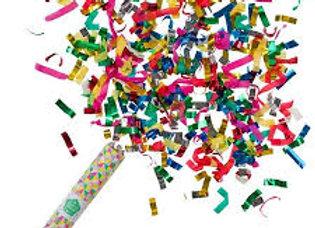 תותחי קונפטי ניירות צבעוניים