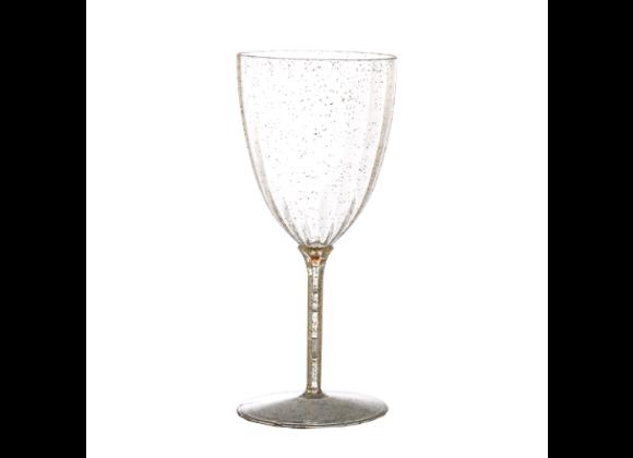 גביעי יין קריסטלי דגם ניצוצות זהב