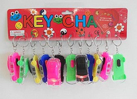 מחזיק מפתחות בצורת מכונית  מהבהבת