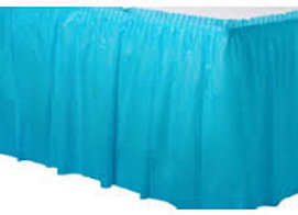 חצאית לשולחן תכלת