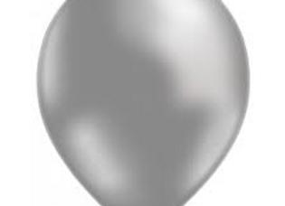 בלון מטאלי אפור עם הליום