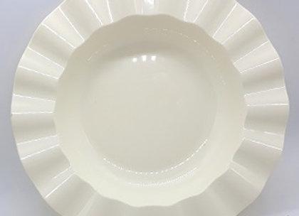 """צלחת חגיגית צבע קרם דגם מיאמי 26 ס""""מ"""