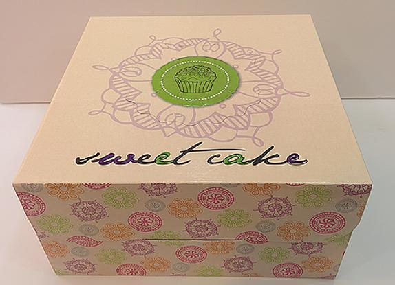קופסה גדולה לעוגה עם ידית וחלון