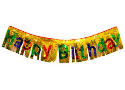 כרזת happy birthday