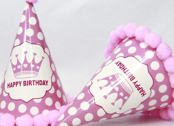 כובע יום הולדת ורוד