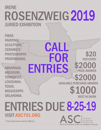 CALL FOR ARTISTS: 2019 ROSENZWEIG EXHIBITION ACCEPTING ENTRIES FROM MID-SOUTH ARTISTS