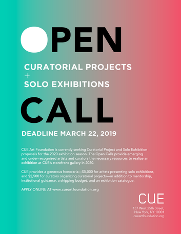 CALL FOR ARTISTS: CUE Art Foundation