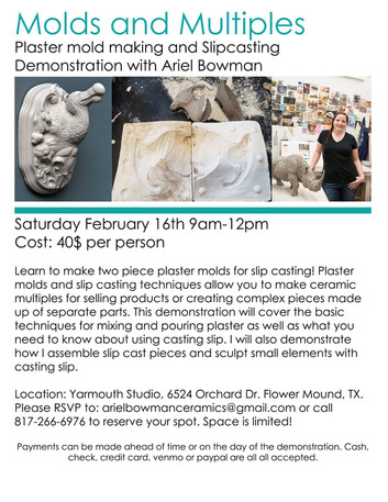 Upcoming Workshops with Ariel Bowman