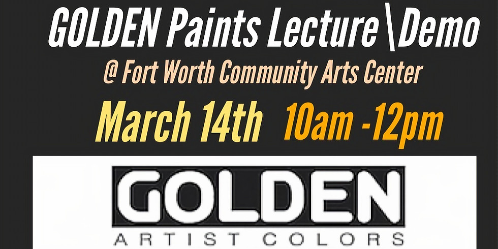 Golden Paints - Will be rescheduled