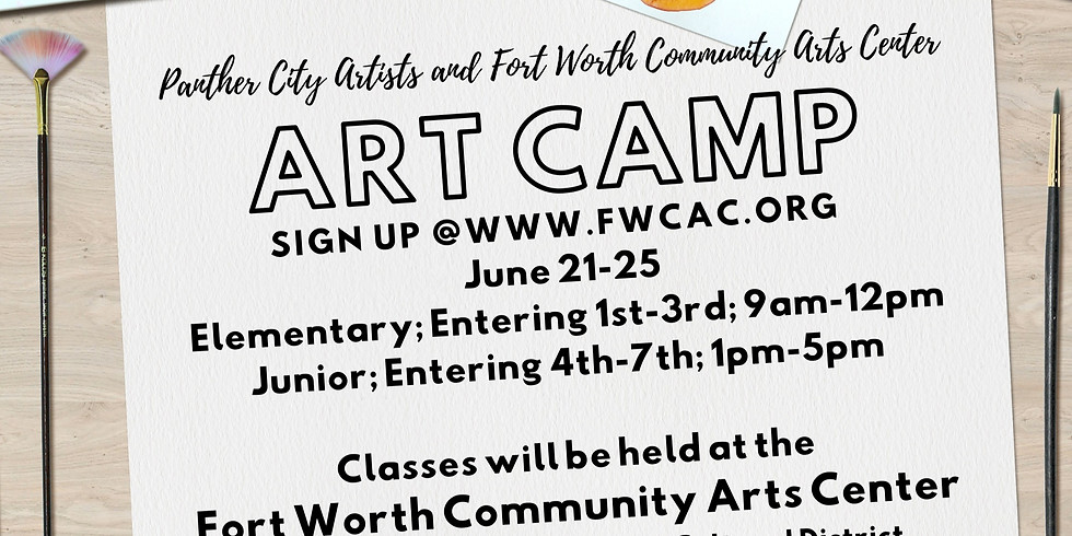 Art Camp - Presented by Panther City Artists and Fort Worth Community Arts Center