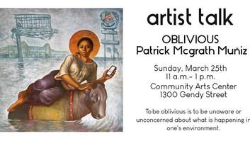 Artist Talk with Patrick Mcgrath Muniz
