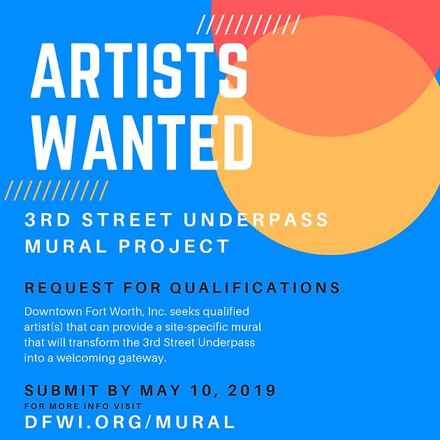 CALL FOR ARTISTS: 3rd Street Underpass Mural Project | Texas Artists