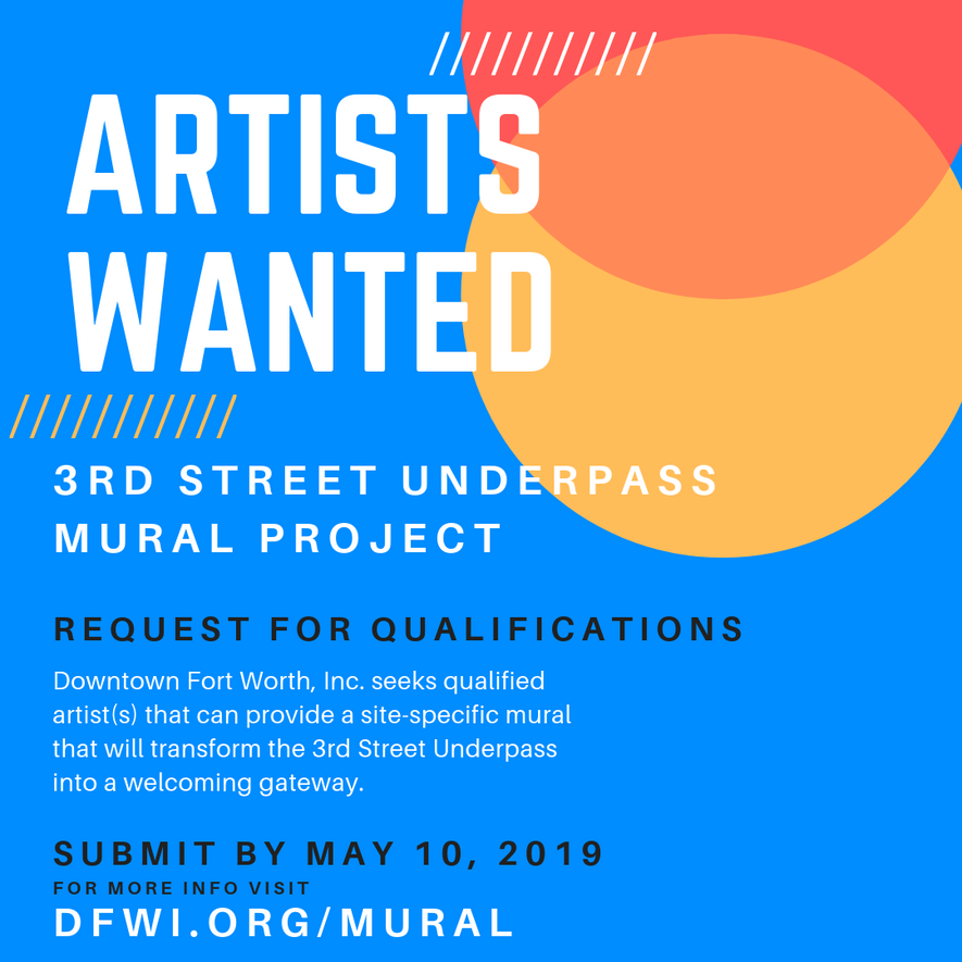 CALL FOR ARTISTS: 3rd Street Underpass Mural Project