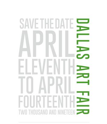 SAVE THE DATE: Dallas Art Fair