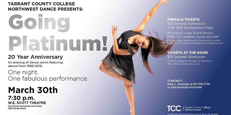 Tarrant County College Northwest Dance Presents:  Going Platinum!