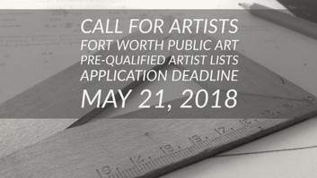 Apply for the Fort Worth Public Art Pre-Qualified Artist Lists