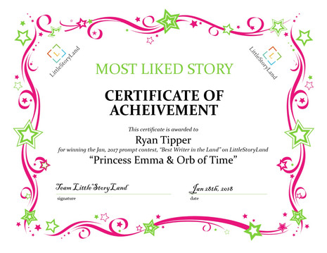 Announcing the Winners for the LittleStoryLand's January Story Contest