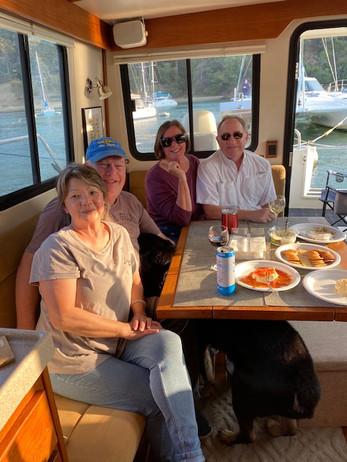 Jen, Mark, Susan, & Keith enjoying the day.