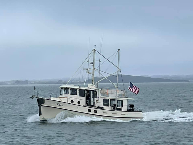 Coda on her way to Half Moon Bay!