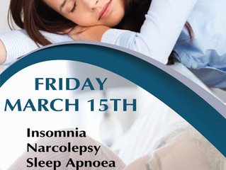 WORLD SLEEP DAY - Experts attending clinics to advise people with sleep problems