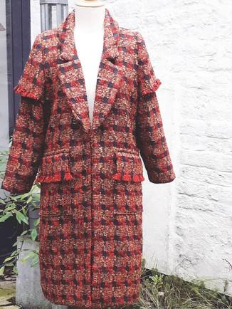 Manteau en tweed de laine sur mesure