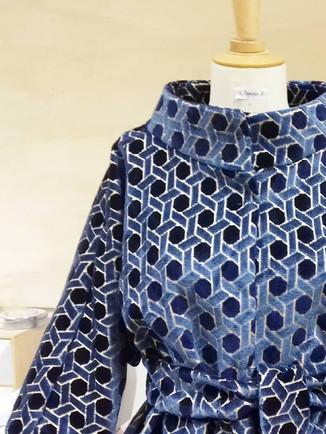 Manteau style kimono et col xxl sur mesu