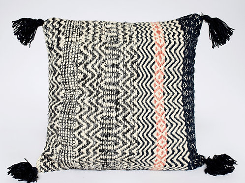 Chevron Tassel Accent Pillow