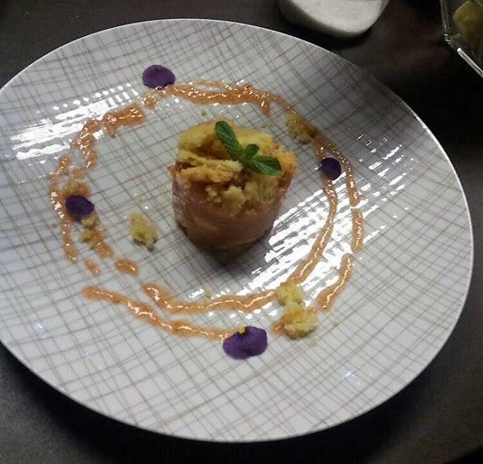 Crumble de manzana y membrillo fresco - Chef Mauro Fernandez - Sheraton Montevideo