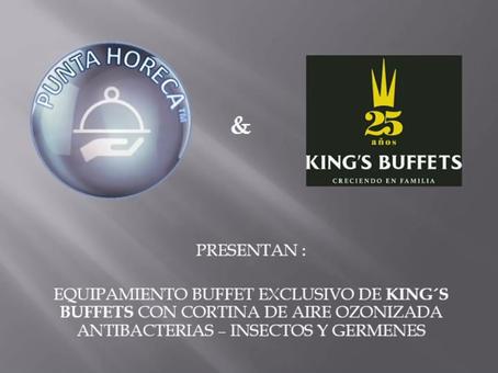 Modulos Buffet con cortina de aire de ozono.