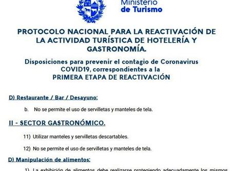 Extracto Protocolo Ministerio de Turismo