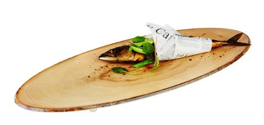 TIMBER MELAMINE TRAY SPRUCE WOOD EFFECT