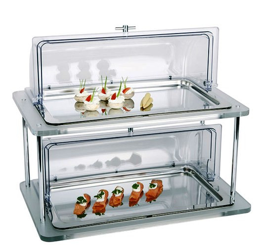 RECTANGULAR COLD BUFFET ACRYLIC 2 LEVELS